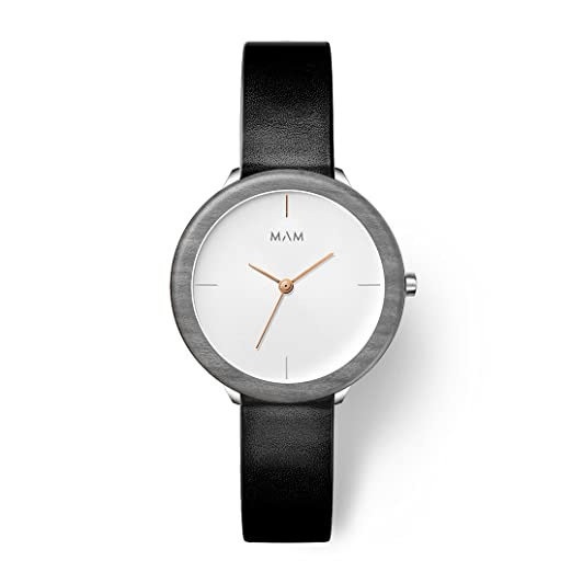 MAM Originals · Stainless Light Maple Night | Reloj de Mujer | Diseño Minimalista | Creado con Madera de Arce sostenible Gris y Acero Inoxidable Reciclado: ...