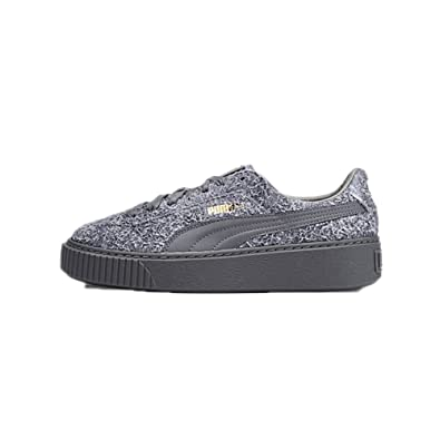 puma suede platform grey