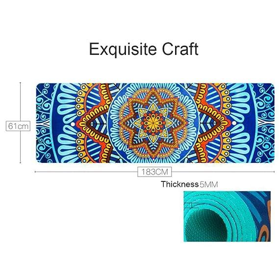 Amazon.com : 5 MM Lotus Pattern Suede TPE Yoga Mat Pad Non ...