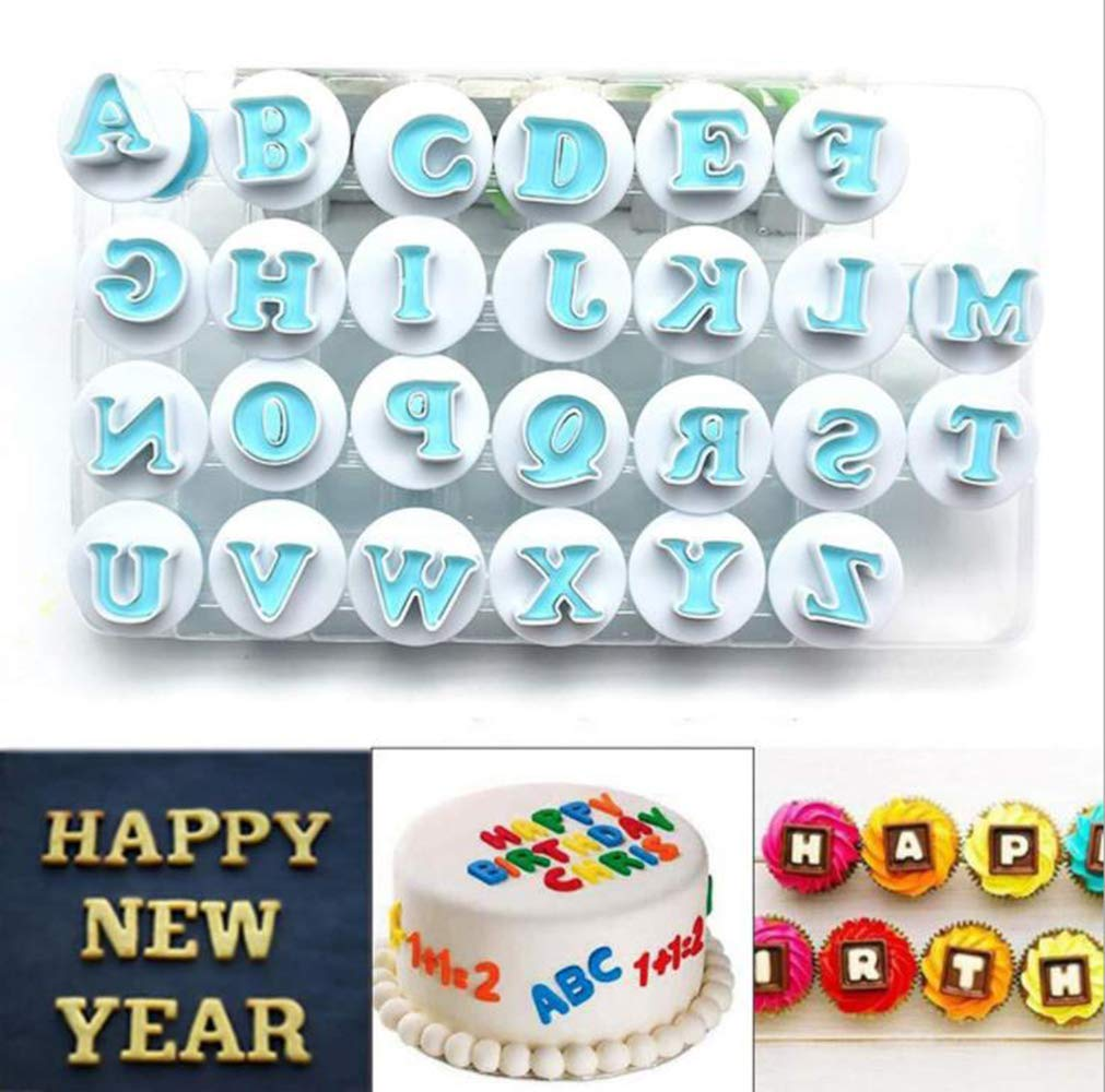 Nuoda 3 Pack DIY Letters Numbers Cake Mould Fondant Sugar Craft Cookies Plunger Cutter Mold Decorating Tools (3 Set of Number and Letters) by Nuoda (Image #4)