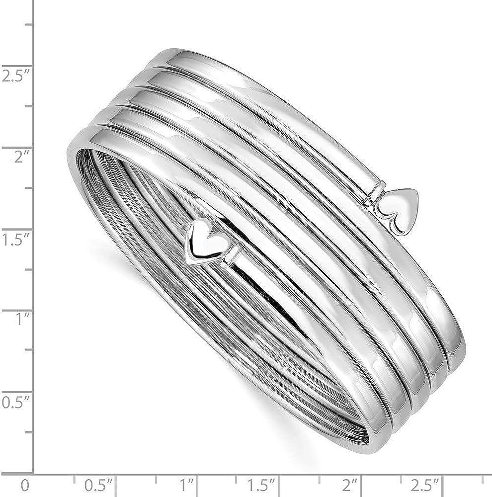 Sterling Silver Polished 3.5mm Slip-on Bangle