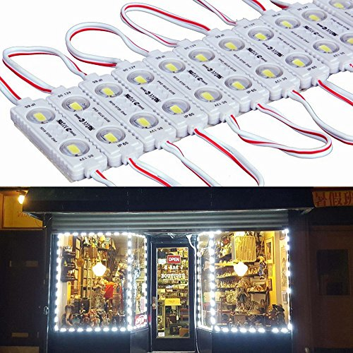 Price comparison product image 9 FT 40 Leds 5730 Waterproof Led Module Light White with Self- Adhesive Tape Universal LED Daytime Running Light for Retail Store,  Shop,  Bars