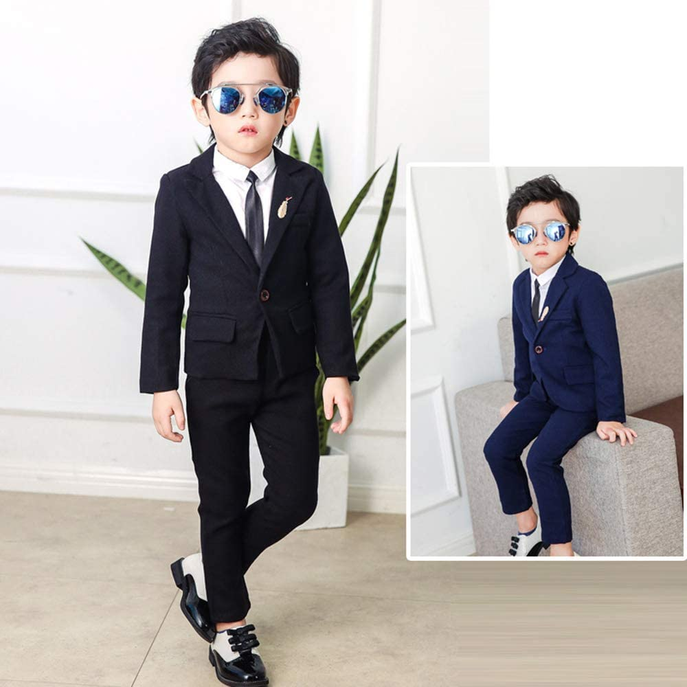 Amazon.com: KINDOYO Boys Kids Blazer Suit Wedding ...