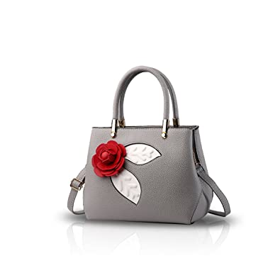 29c22bd9f939 NICOLE DORIS Women Fashion Simple Handbag Crossbody Shoulder Purse Small Bag  Cute Totes Soft PU Light Grey