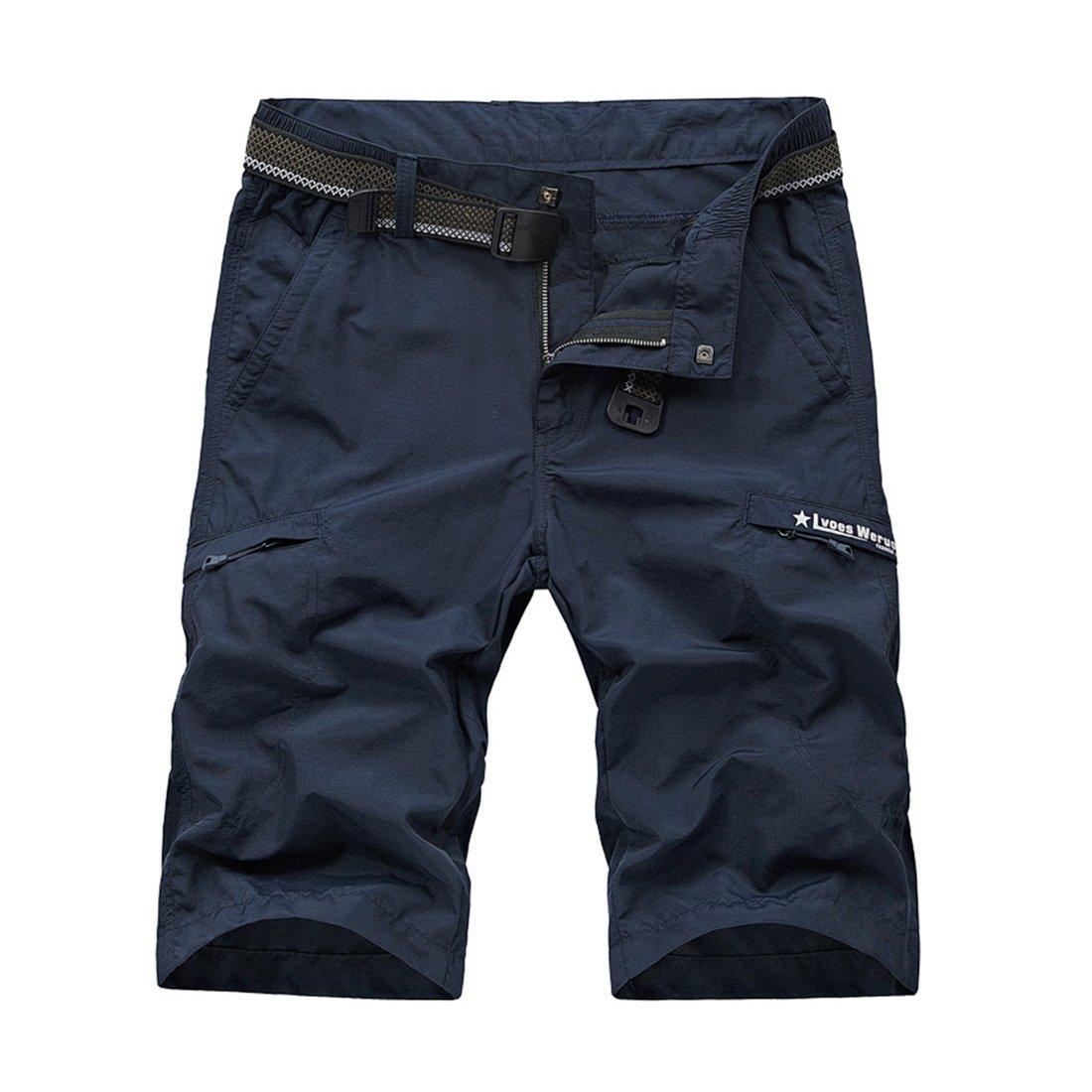 12 Inseam Mens Shorts Big and Tal 30 32 34 36 38 Khaki Grey Wine Red Army Green Dark Blue Slim Fit Summer Utility Pants