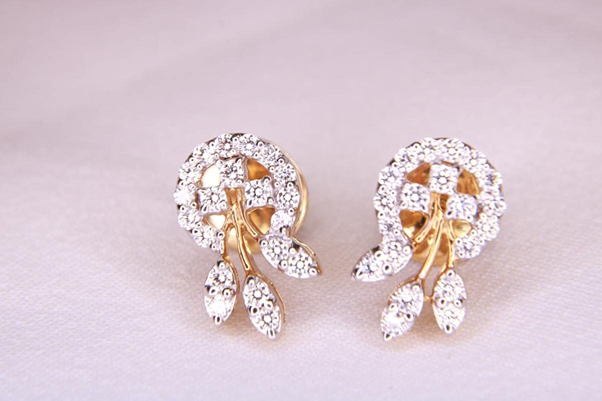 bd5fc1547b6a6 Buy Diamond Earrings VVS1 (Yellow Gold, 4.06) Online at Low Prices ...