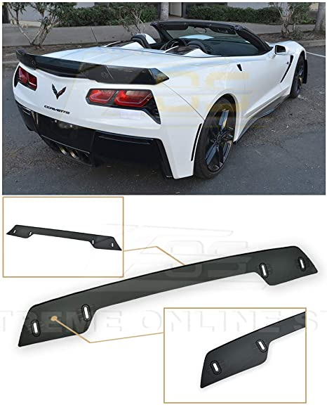 Extreme Online Store Replacement for 2014-2019 Chevrolet Corvette C7 | Z06  Z07 Stage 3 Style Rear Trunk Center Wickerbill Spoiler (Smoke Tinted)