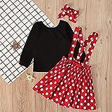 Polka Dots Princess Costume for Baby Girl Halloween Costume 3Pcs High Waist Overall Skirt+Top+Headband