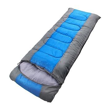 HM&DX Camping Saco de Dormir Rectangular Adultos 4-Seasons Impermeable Algodón Bolsa de Dormir Saco