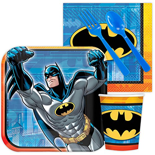 Costume Supercenter BBKIT794 Batman Birthday Party Standard Tableware Kit For 8 (Batman Party Ideas)