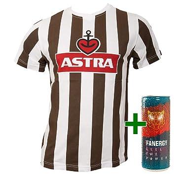 48ea6a8b FC St. Pauli Astra - Camiseta de fútbol para Hombre, diseño con Logotipo,  Color marrón y Blanco: Amazon.es: Deportes y aire libre