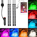 #4: Saimly 4-Piece Multicolor LED Interior Underdash Lighting KitBy APP Bluetooth Controller for iPhone Android