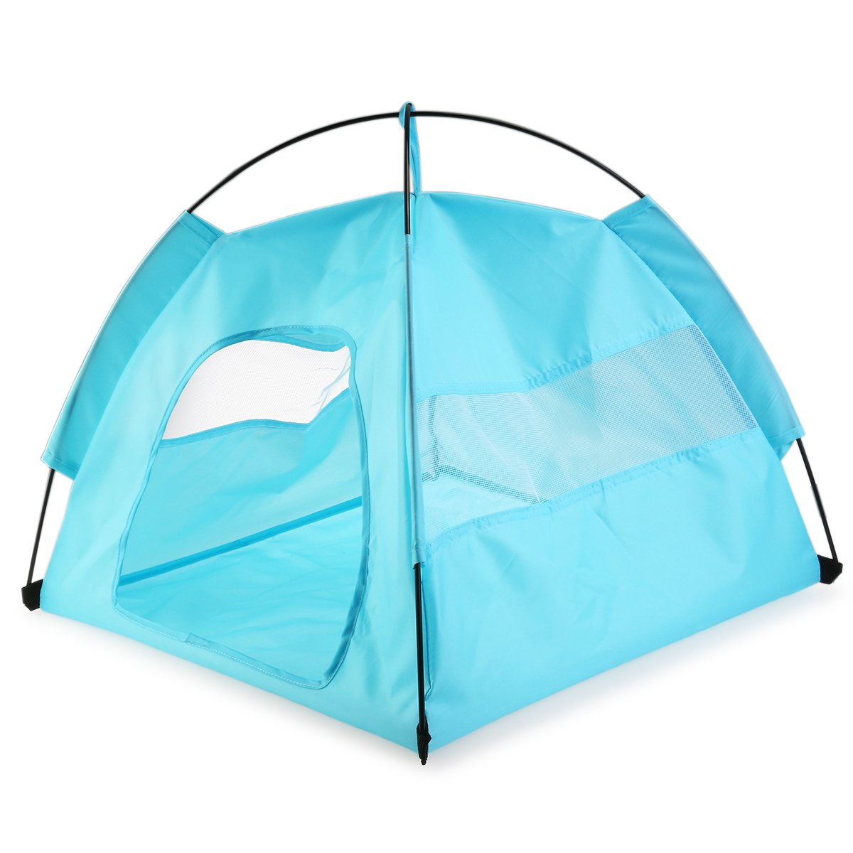 NUOLUX Dog House Tent Portable Folding Large for Indoor Outdoor Waterproof - Size L (Blue)