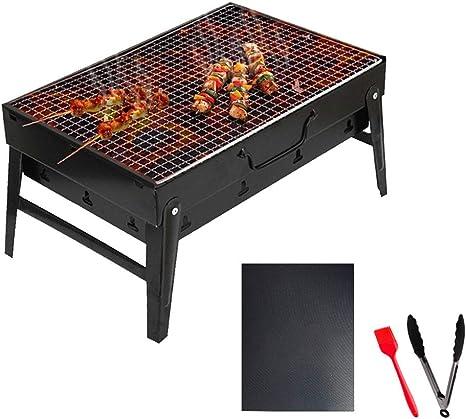 KEKE Jardín Exterior BBQ Portátil De Acero Inoxidable, Barbacoas De Carbón Parrilla Diseño De Ventilación BBQ Picnic Acampadas Camping (35 * 27 * 19.5Cm): Amazon.es: Deportes y aire libre