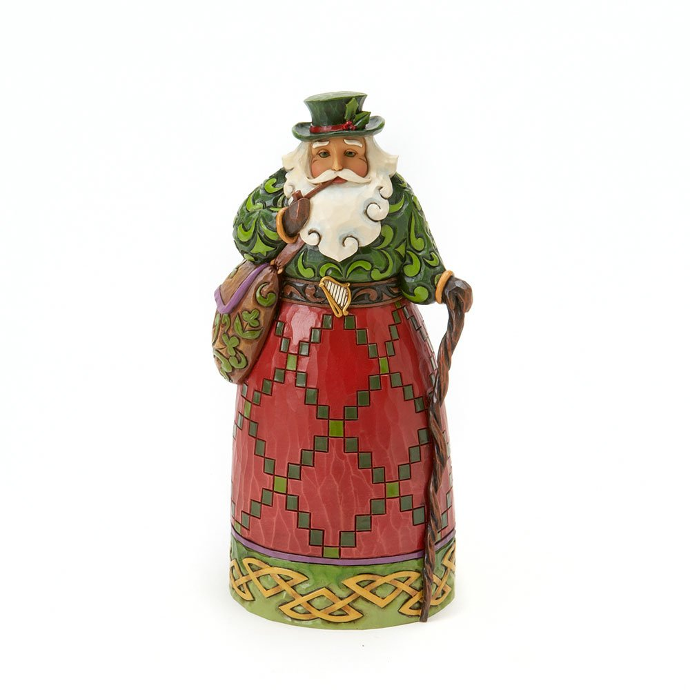 Jim Shore Christmas Heartwood Creek from Enesco Irish Santa Figurine