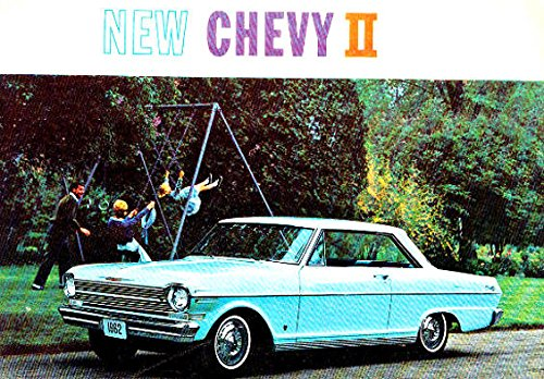 Chevy Nova Sales - 1962 CHEVY II & NOVA DEALERSHIP COLOR SALES BROCHURE - ADVERTISMENT For Hardtop, Station Wagon, Sedan, Coupe. - CHEVEROLET 62