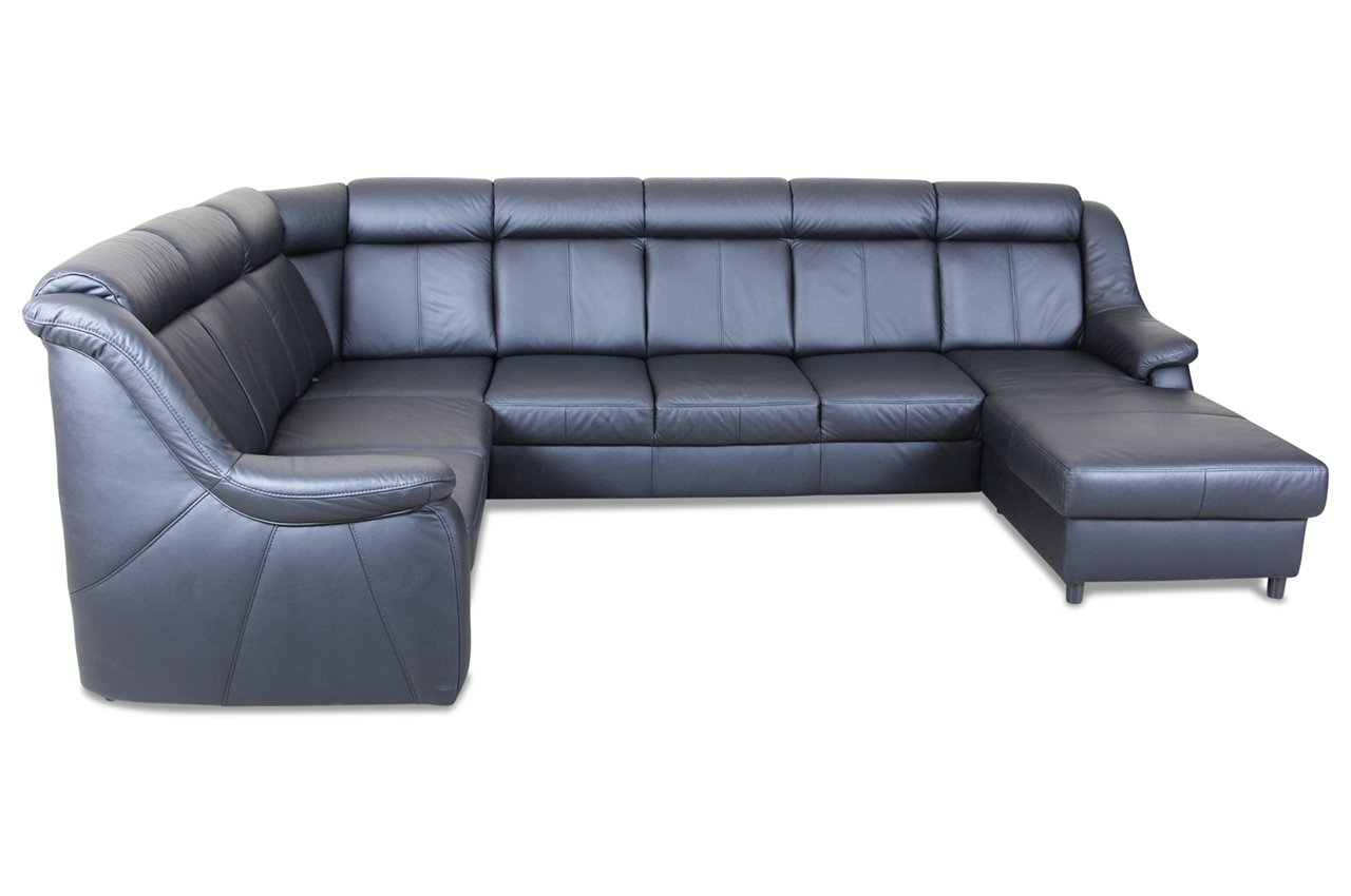 sofa sit more u wohnlandschaft xl links basel echt leder schwarz kaufen. Black Bedroom Furniture Sets. Home Design Ideas