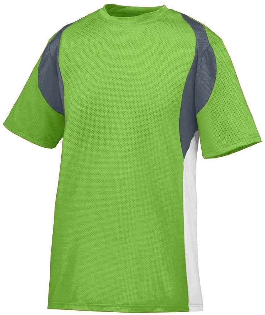 Augusta SportswearメンズQuasarジャージー B00HJTK4HELime/Graphite/White XLarge