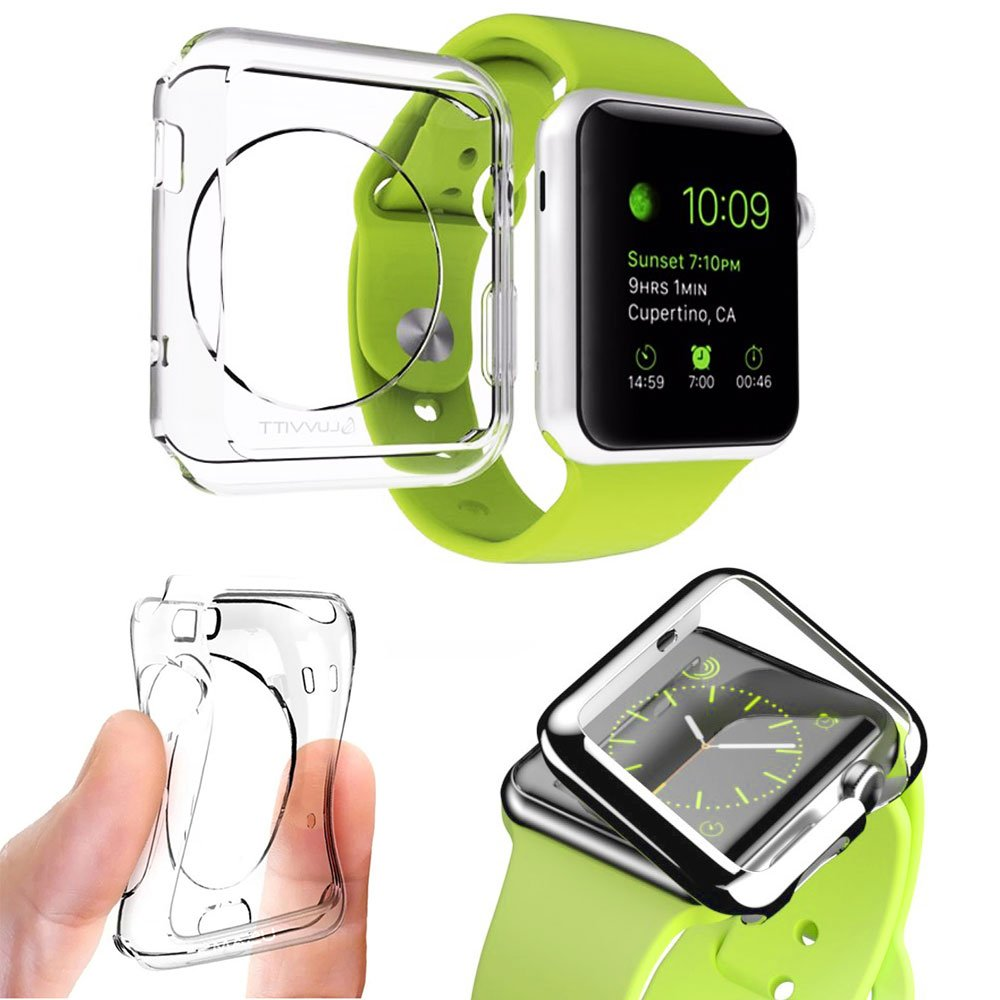 Apple Watch 38mm Screen Protector - Ultra Slim Clear PC Flexible Lightweight Case Protective Bumper Cover for Apple iWatch Series 2 & Series 3 - High Transparency Full Cover for Apple Watch 2017