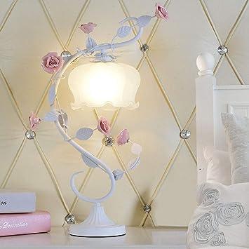Wrming Rose Céramique Lampe Decoration Table Romantique De PkZuwiTOXl