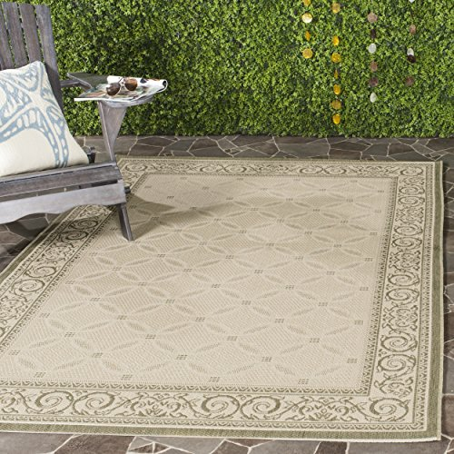 Safavieh Courtyard Collection CY1502-1E01 Natural and Olive Indoor/ Outdoor Area Rug (8' x 11')