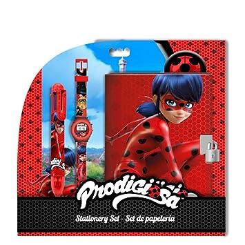 Licencias Set Regalo, Reloj Digital con Diario y boligrafo 6 Colores de Lady Bug: Amazon.es: Juguetes y juegos