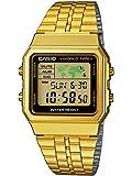 Casio Collection Unisex-Armbanduhr Collection Digital Quarz Edelstahl A500WEGA-1EF