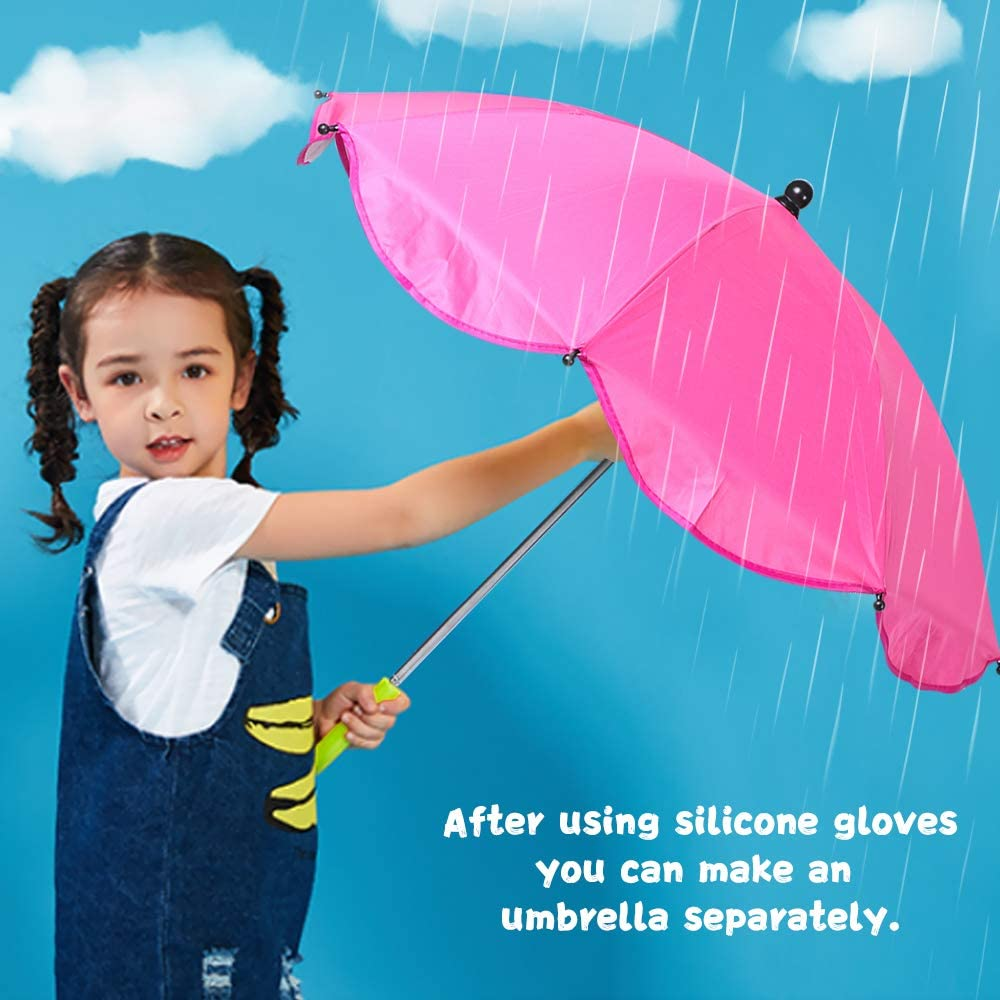 Souarts Pare-soleils Ombrelles R/églable Anti-UV pour Poussette Landau Parapluie Parasol avec Holder Clip pour Fauteuil Roulant Poussette Dia 65cm