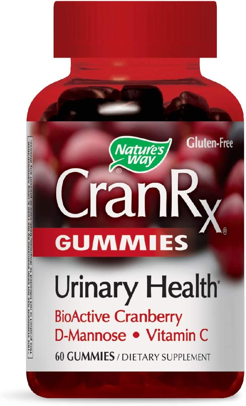 Nature s Way CranRx Gummy Urinary Health BioActive Cranberry D-Manonse Vitamin C, 60 Gummies