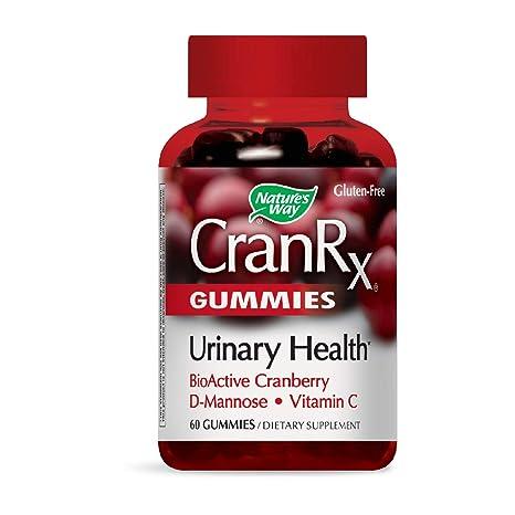 CranRx, salud urinaria, BioActivo arándano, 60 Gummies - Camino de la Naturaleza