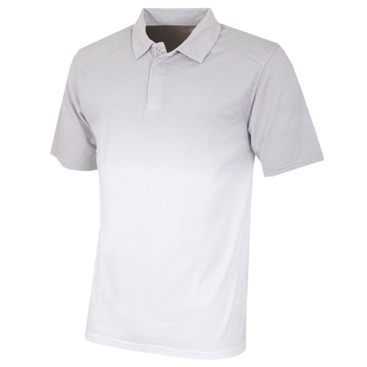 Amazon Island Green Fade Print Mens Performance Golf Polo Shirt