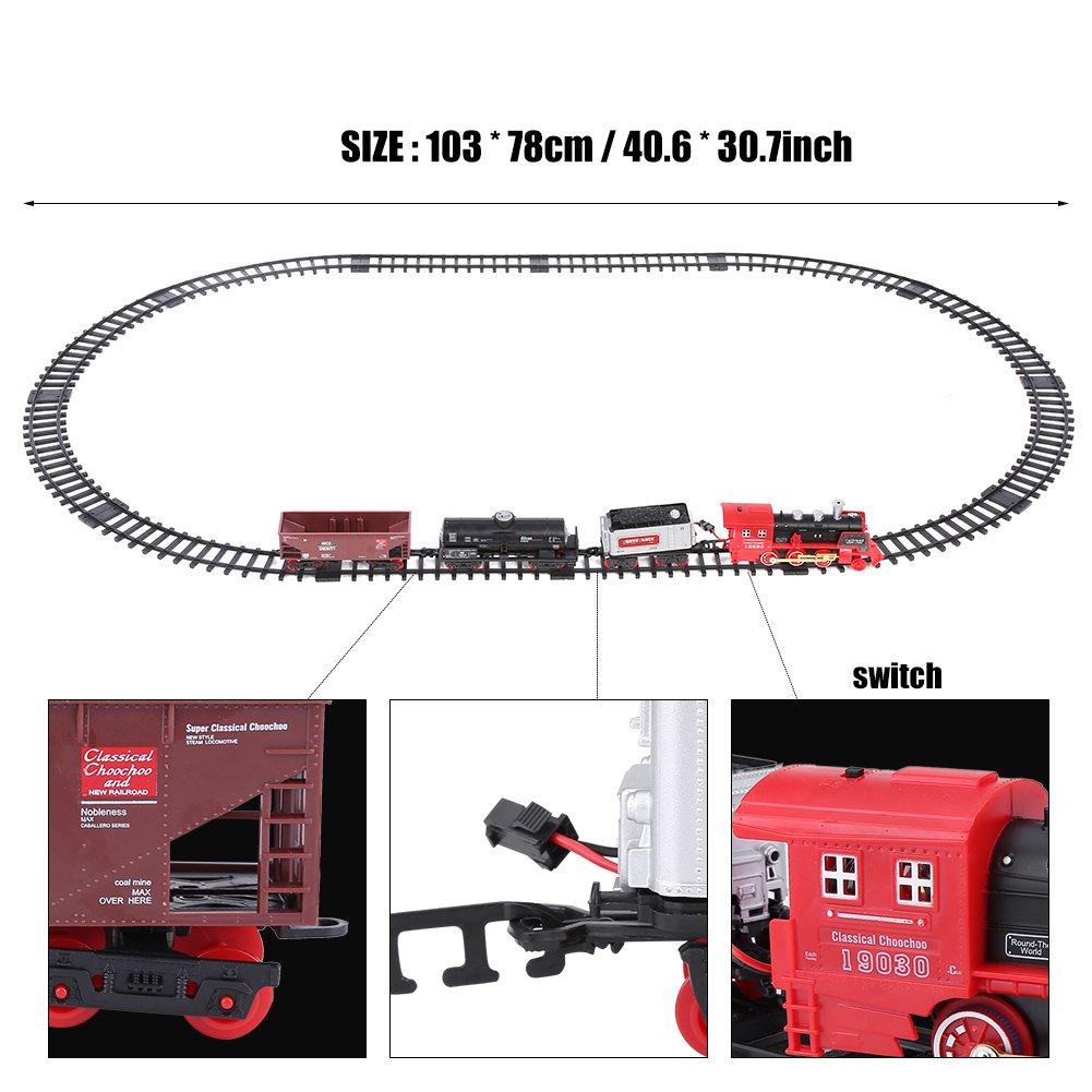 Dilwe RC Modelo de Tren, Eléctrico Fumar Tren de Juguete Control Remoto Recargable Vehículo Modelo (Camión) ...: Amazon.es: Juguetes y juegos