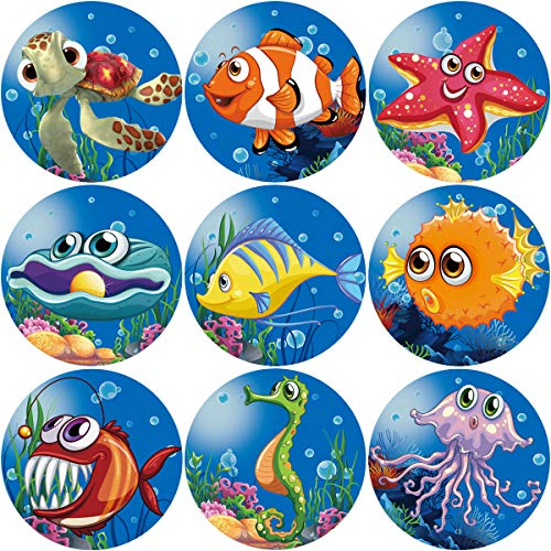 Fancy Land Tropical Sea Life Perforated Roll Stickers 200pcs Party Decoration Sticker]()