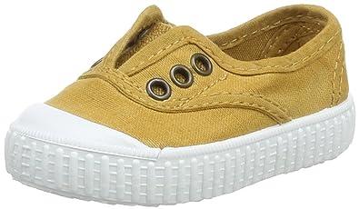 victoria Unisex Baby Inglesa Lona Tintada Puntera Sneaker, Gold (ORO), 19 EU