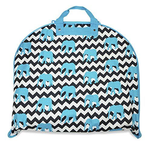 Price comparison product image Ever Moda Chevron Zig Zag Prints - A Collection of Hanging Garment Bags (40-inch) (Chevron - Elephant Blue)
