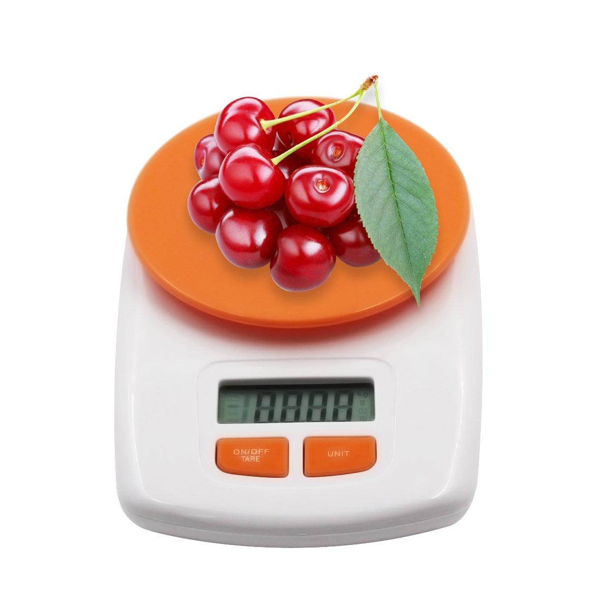 Digital Multifunction Kitchen and Food Scale, Elegant Orange