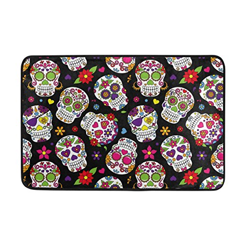 sugar skull door mat - 2