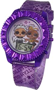 L.O.L. Surprise! Girls Watch Gift Set- Includes Light up Digital Purple Watch and Bracelets