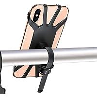 FYLINA Handyhalterung Fahrrad Universal 360° Drehbarer Motorrad Handy Halter Anti-Shake Silikon Handyhalterung Radsport Klammer für 4-6 Zoll Smartphone iPhone Samsung Galaxy
