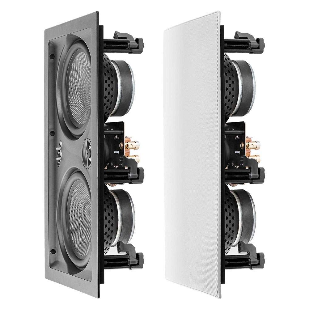 OSD Audio IW650 6.5'' Trimless in-Wall LCR Speaker with Dual Black Kevlar Woofers and Aluminum Dome Tweeter, 200W (Single)