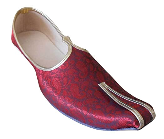 Traditional Handmade Sherwani Groom Jooti Mojari Men Shoes Flat