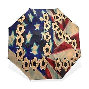 Enne paraguas nosotros fútbol plegable compacto viaje paraguas lluvia viento UV Protección