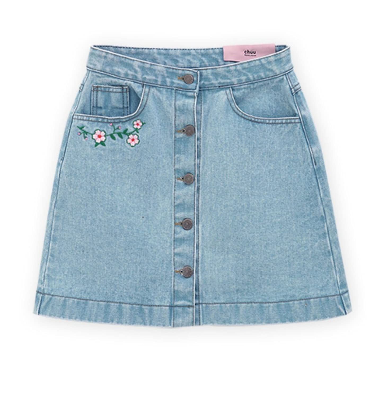 Chuu  5 Kg Cherry Blossom Skirt Vol.1 Limited Edition Premium Korean Denim Skirt by Chuu