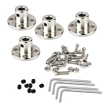 SDTC Tech 1//4 inch Flange Shaft Coupling Metal Axis Bearing Fittings Rigid Coupler for Stepper Motor RC Model 2 pack