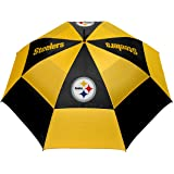 """Team Golf NFL Pittsburgh Steelers 62"""" Golf Umbrella with Protective Sheath, Double Canopy Wind Protection Design, Auto Open B"""