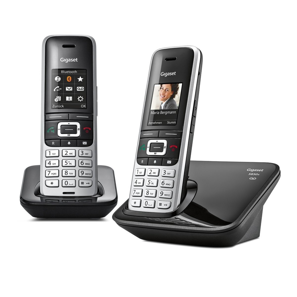 Gigaset S850A - Teléfono (Teléfono DECT, Terminal inalámbrico, 500 entradas, Identificador de Llamadas, Servicios de Mensajes Cortos (SMS), Negro, ...