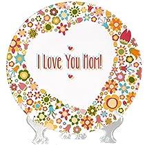 YaYa cafe Birthday Gifts for Mom I Love Mum Decorative Plat