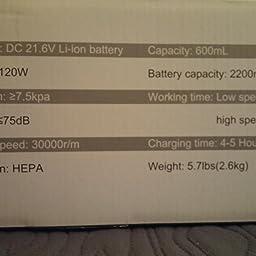 Amazon.es:Opiniones de clientes: Housmile Aspirador sin Cable 7500Pa, Aspirador Escoba 2 en 1 con 2 Modos de Limpieza,Depósito 0.6L-Gris y Violeta