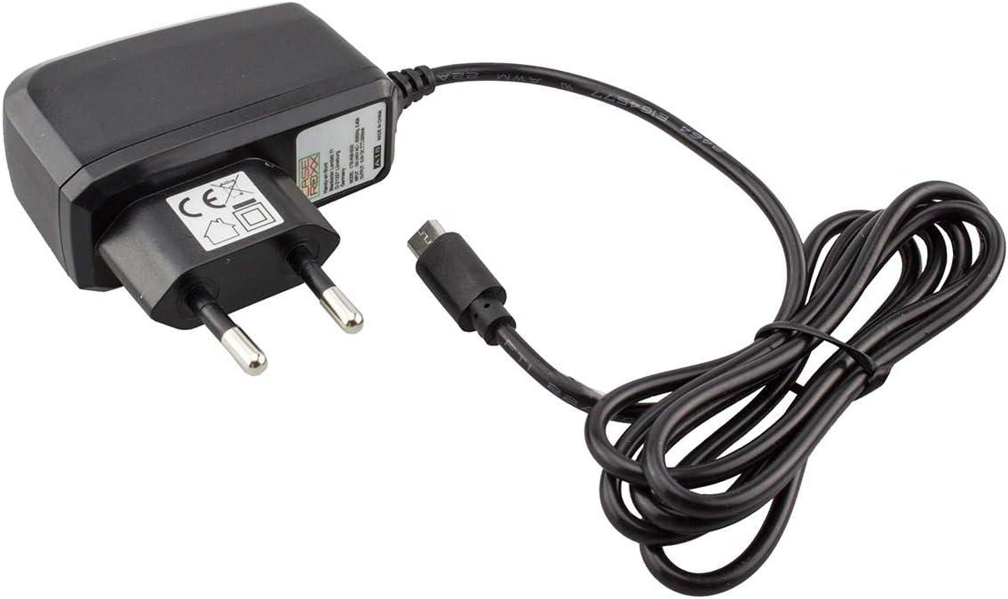 caseroxx Cable Cargador Cargador de Altavoces para Silvercrest Bluetooth Lautsprecher, Cargador Fuente de alimentación para Cargar el móvil (Cable Flexible y Estable en Negro)
