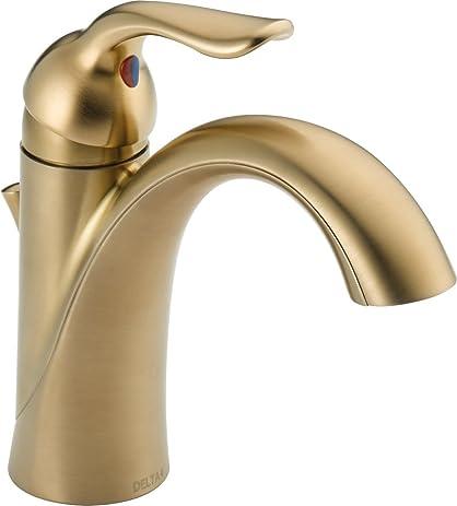 Delta 538 CZMPU DST Lahara Single Handle Centerset Bathroom Faucet, Champagne  Bronze